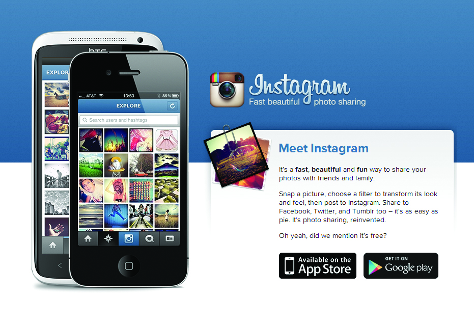 capture d'écran de l'application Instagram